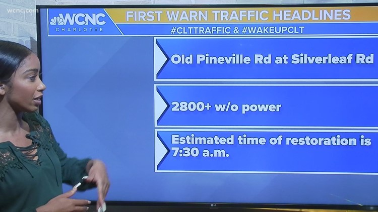 Hundreds without power in south Charlotte