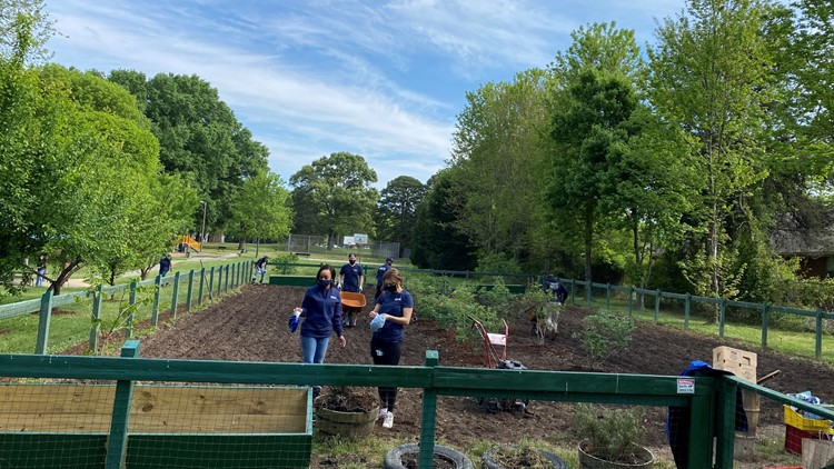 WCNC Charlotte volunteers spruce up garden for north Charlotte nonprofit: 'We're grateful for the help'