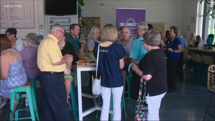 Raising a glass and awareness for the Alzheimer's Association