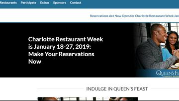 Charlotte restaurant week begins January 18