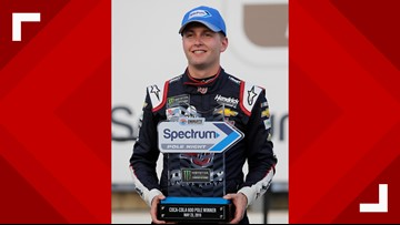 Charlotte native William Byron becomes youngest ever to capture Coca-Cola 600 pole