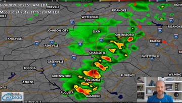 Strong to severe storms possible in Charlotte Monday evening
