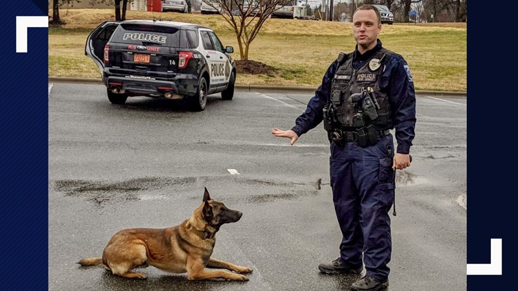 Officer Jordan Sheldon and K9 Ramone
