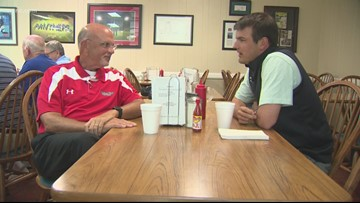 Rival college coaches meet for lunch ahead of first game