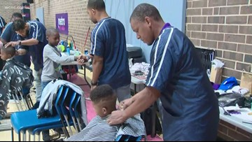 Annual 'The Big Cut' event helps kids prepare for first day of school with a fresh haircut