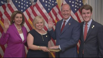 Dan Bishop sworn into office in Washington, D.C.