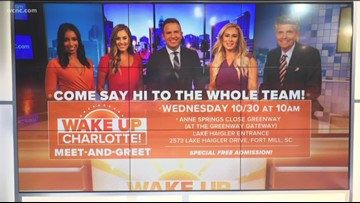 Meet the Wake Up Charlotte team Wednesday in Fort Mill