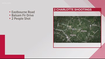 Two hurt in separate Charlotte shootings, officials say