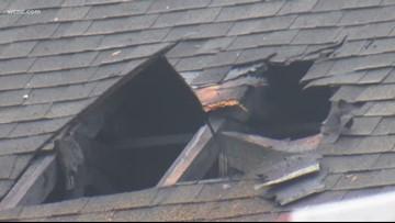 Lightning strike sparks house fire in Ballantyne
