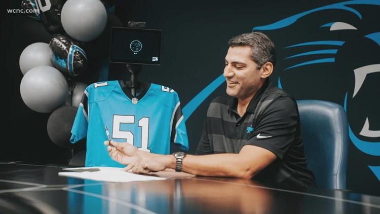Carolina Panthers sign robot