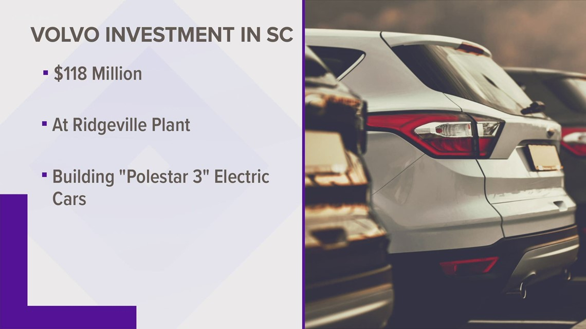 Volvo to build new electric SUV at SC plant
