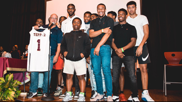 Tepper gets jersey for helping West Charlotte basketball team get to state