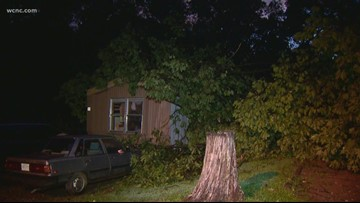 'Traumatic injuries' | Person rushed to hospital after tree falls on trailer, Medic says