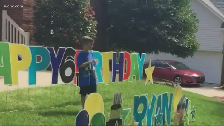 Huntersville Police Department surprises 6-year-old boy at birthday parade