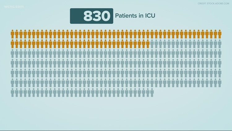 By the Numbers: COVID-19 hospitalization statistics in the Carolinas