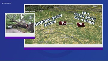 NWS confirms two tornadoes in Charlotte area