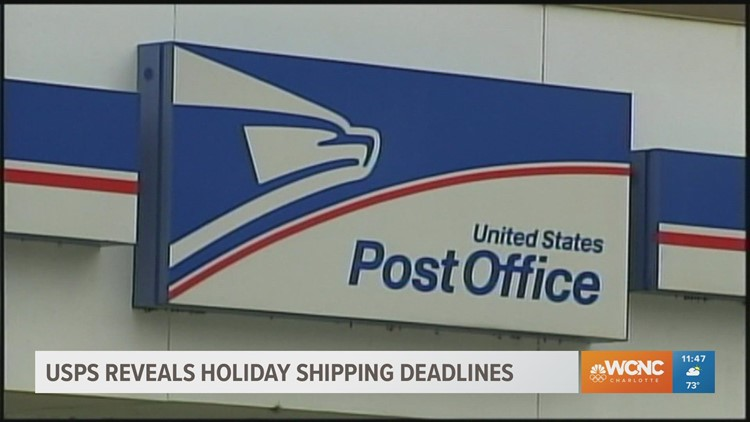 United States Postal Service reveals holiday shipping deadline