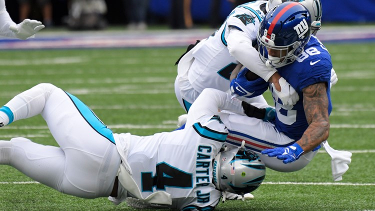 Panthers fall to Giants, 25-3