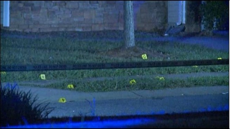 Police are searching for the gunman after a person was shot in northeast Charlotte late Wednesday night.