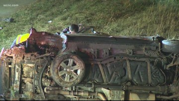 6 children seriously injured in crash on I-485 in Charlotte