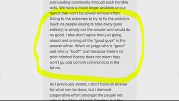 UNCC shooting survivor Drew Pescaro writes open letter demanding change