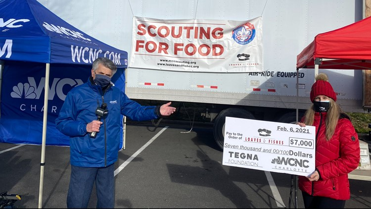 Scouts collect much needed food donations for Scouting For Food