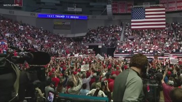 Trump rallies in Charlotte ahead of Super Tuesday