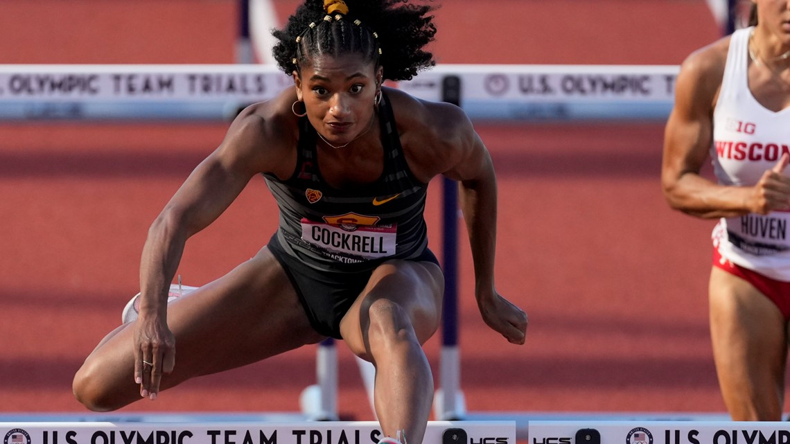 Charlotte's Anna Cockrell qualifies for semifinals after women's 400-meter hurdles