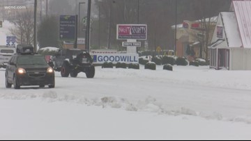 More than a foot of snow falls in Hickory