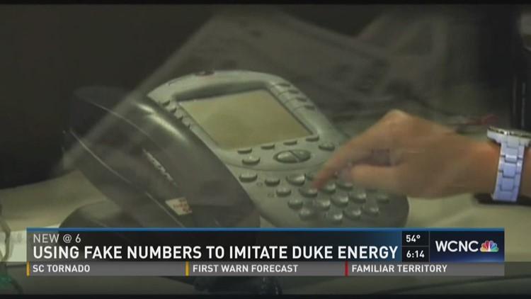 Using fake numbers to imitate Duke Energy
