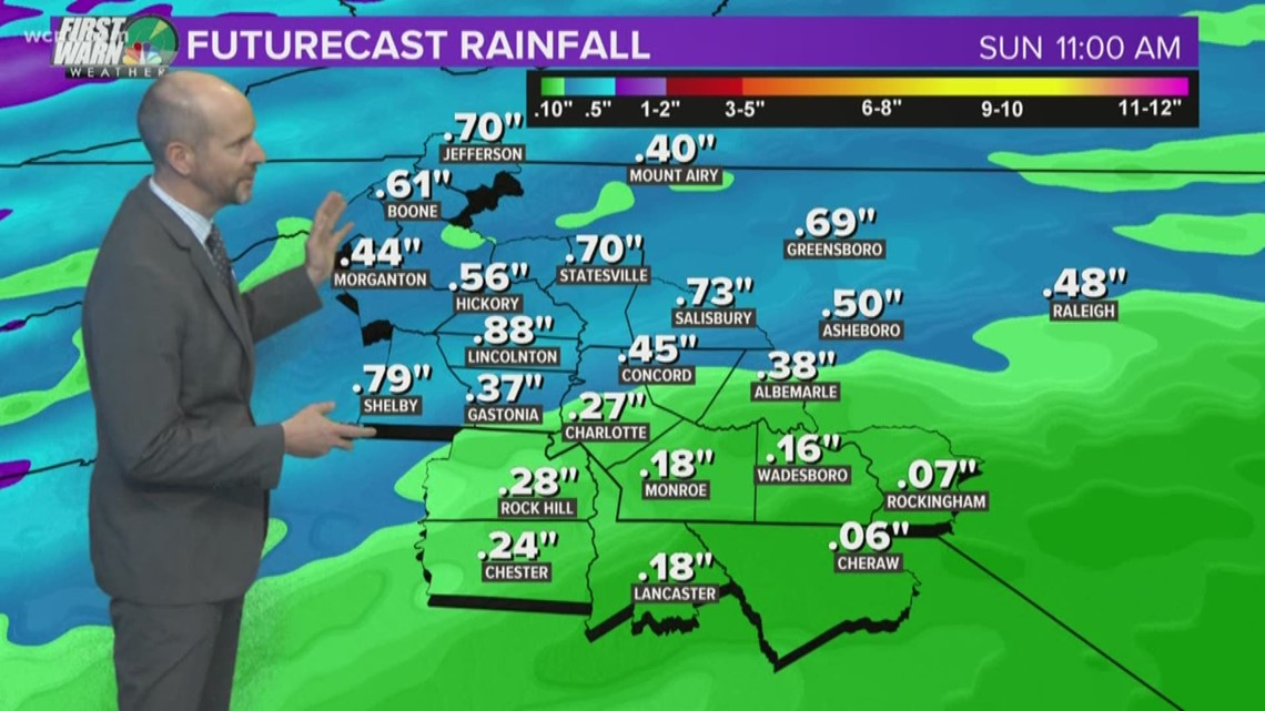 FORECAST:  Rain continues through weekend; end is in sight