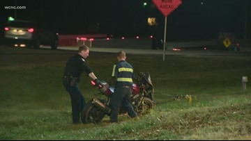 Motorcyclist injured in I-85 accident