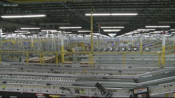 Amazon's new fulfillment center almost finished in west Charlotte