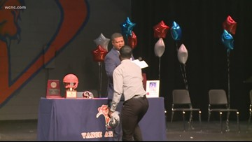 Vance High School students commit to college sports on National Signing Day