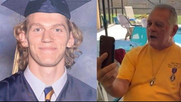 'He's a true hero' | A Vietnam Veteran just awarded slain UNCC student, Riley Howell, with a Purple Heart and Bronze Star