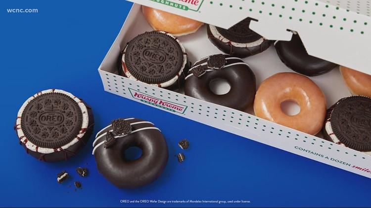 Krispy Kreme selling oreo-glazed doughnuts