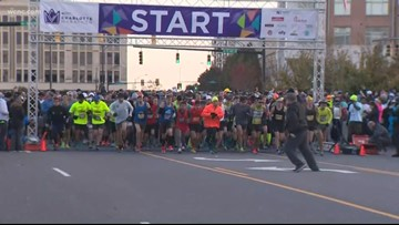 Runners lace up for the Charlotte Marathon