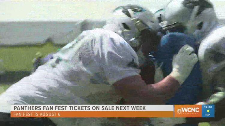 Panthers Fan Fest tickets go on sale next week