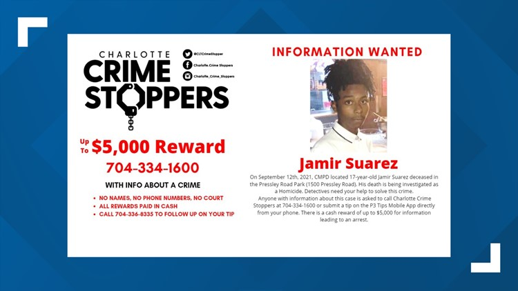 $5,000 reward offered for information about Charlotte teen found dead Sept. 12
