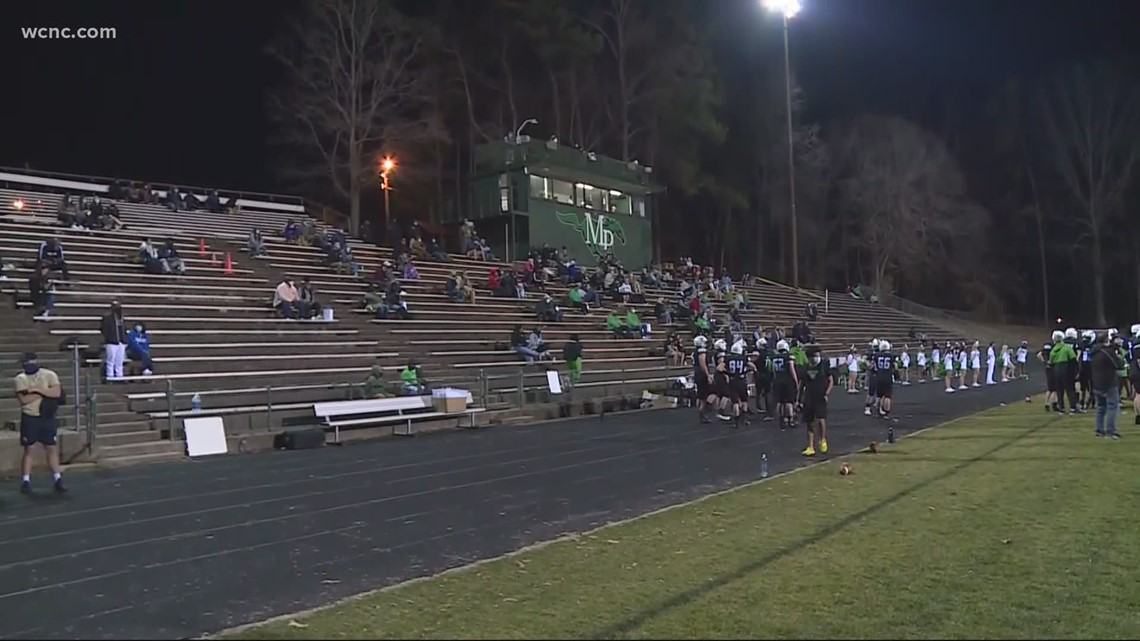 CMS to allow 500 fans at football games Friday