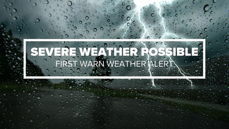 Strong thunderstorms possible Monday evening: #WakeUpCLT To Go