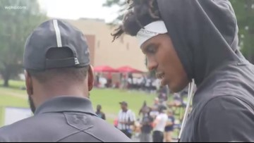 Cam Newton hosts 7 on 7 football tournament