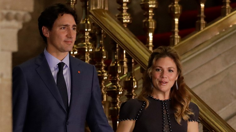 Canadian Prime Minister Justin Trudeau and his wife Sophie Gregoire Trudeau