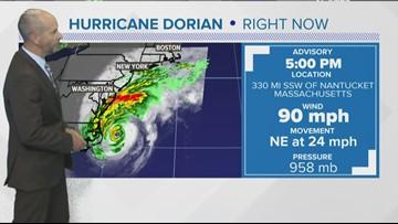 Hurricane Dorian 5 p.m. Friday update