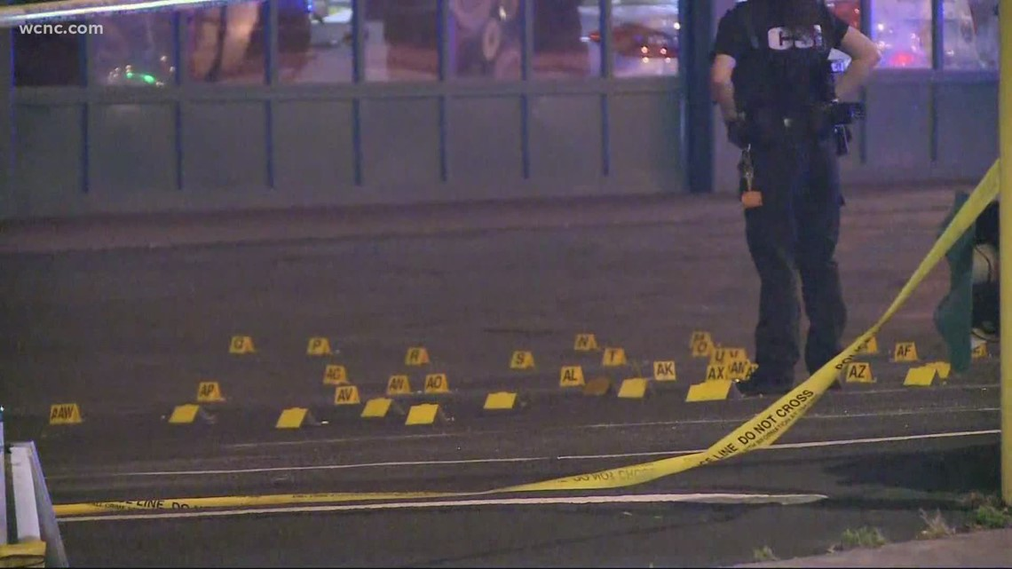 Dozens of shots fired in uptown Charlotte