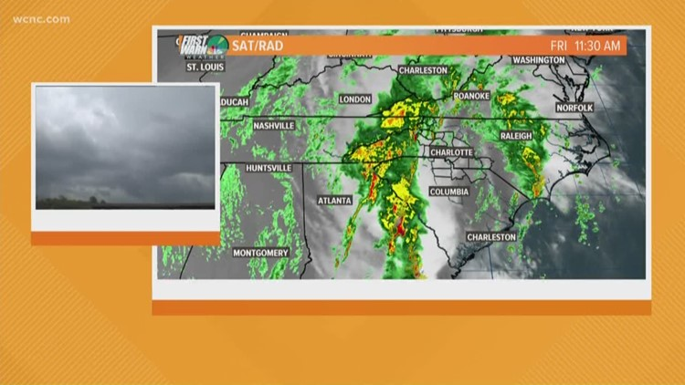 Heavy rain, damaging winds possible from severe thunderstorms