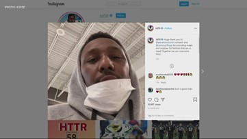 Thomas Davis helps others during COVID-19