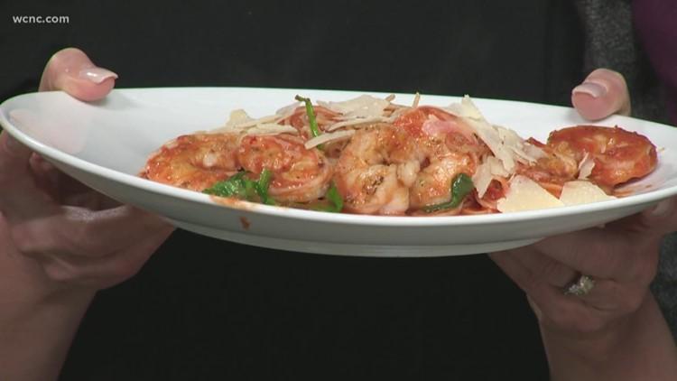 Recipe: Spicy shrimp over angel hair pasta