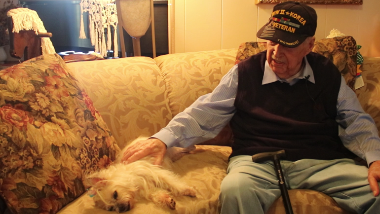 Lieutenant Colonel Martin B. Roller and his dog, Sassy