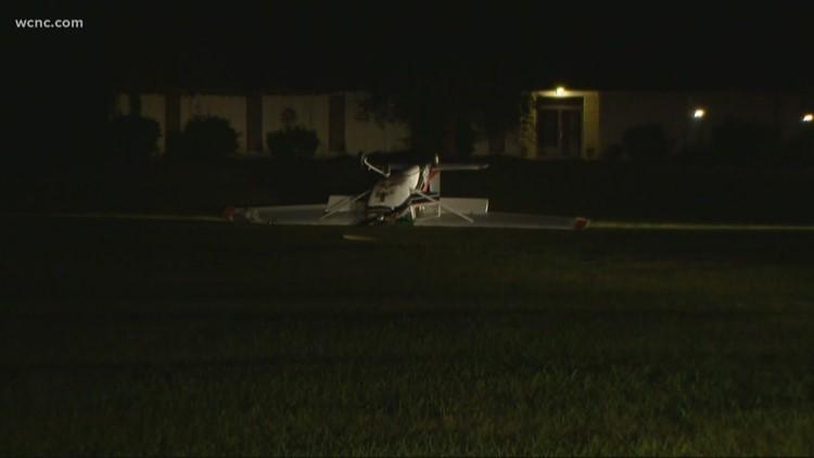 Pilot walks away unharmed from plane crash in Matthews